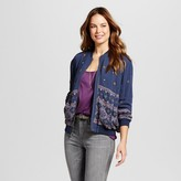 Knox Rose Women's Embroidered Bomber Jacket - Knox Rose Navy