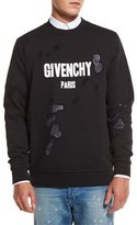 Givenchy Distressed Logo Sweatshirt, Black