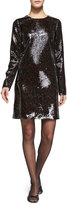 Marc Jacobs Long-Sleeve Sequined Shift Dress