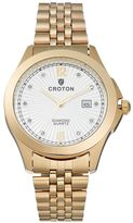 Croton Men's Diamond Stainless Steel Watch