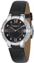 Stuhrling Original Women's 338LS.12151 Symphony Regent Countess Diamond Black Leather strap Watch