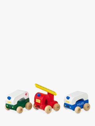 Orange Tree Wooden Emergency Vehicles, Pack of 3