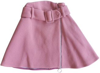 Carven Pink Wool Skirt for Women