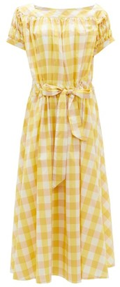 Thierry Colson Vera Gingham Cotton-blend Dress - Yellow Multi