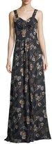 Derek Lam 10 Crosby Floral-Print Sleeveless Maxi Dress