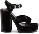 Jil Sander Platform Velvet Heels