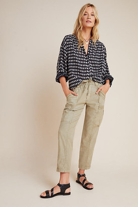 Anthropologie Angela Cropped Cargo Pants By in White Size 25