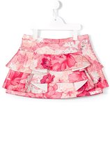 Roberto Cavalli floral print skirt - kids - Polyester - 8 yrs