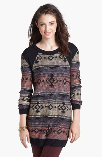 BP Patterned Tunic Sweater (Juniors)
