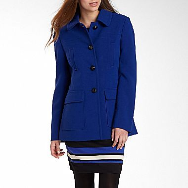 JCPenney Worthington® Mod Crepe Coat