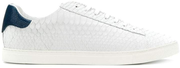 DSQUARED2 almond toe low top lace-up trainers