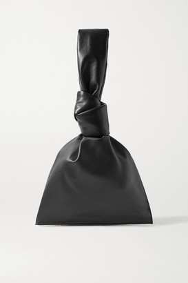 Bottega Veneta The Mini Twist Knotted Leather Clutch - Black