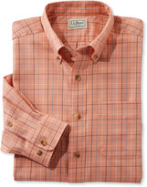 L.L. Bean Men's Wrinkle-Free Twill Sport Shirt, Traditional Fit Windowpane