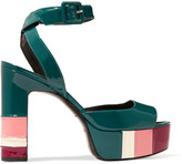 Pierre Hardy Striped patent-leather sandals