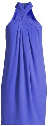 Elie Tahari Ivanna Twist-Neck Crepe Dress