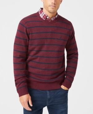 Nautica Men's Sustainable Striped Crewneck Sweater