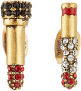 Marc Jacobs Embellished Lipstick and Cigarette Stud Earrings