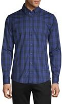 HUGO BOSS Checkered-Print Long-Sleeve Shirt