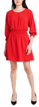 MSK Petite Smocked Fit & Flare Dress