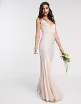 Asos Design DESIGN Bridesmaid washed satin cami maxi dress