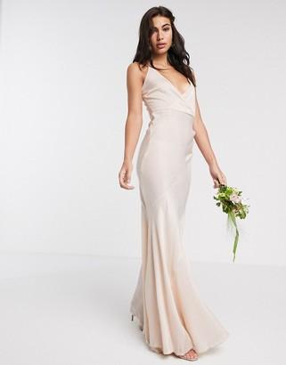 Asos Design DESIGN Bridesmaid washed satin cami maxi dress