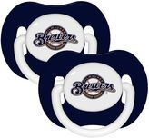 Baby Fanatic MLB Milwaukee Brewers 2-Pack Pacifiers