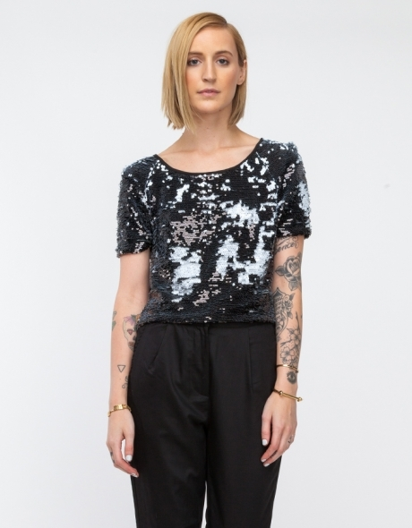 Pepper Sequin Tee