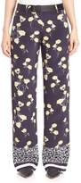 Mother of Pearl Women's Ruthie Silk Wide-Leg Pants