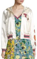 Tommy Hilfiger Collection Runway Track & Field Hooded Varsity Jacket