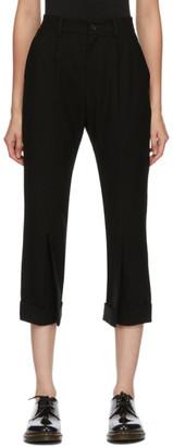 Regulation Yohji Yamamoto Black Cropped Tailored Trousers