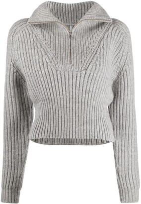 Jacquemus Stand-Up Collar Chunky Jumper