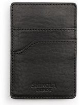 Shinola Leather Card Case with Money Clip