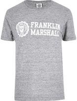 River Island MensGrey Franklin & Marshall T-shirt
