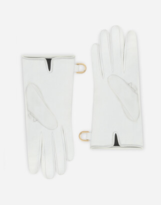 Dolce & Gabbana Nappa leather gloves with logo