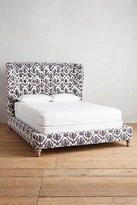 Anthropologie Thistle-Printed Wingback Bed