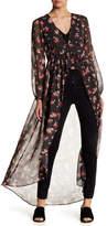Living Doll Sheer Floral Duster Kimono