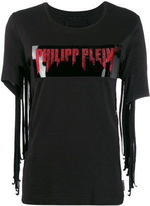 Philipp Plein fringed T-shirt