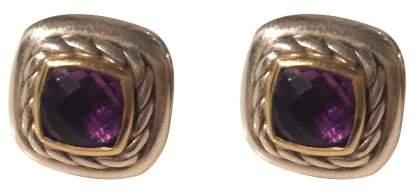 David Yurman 18K White Gold & Amethyst Classic Earrings