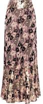Anna Sui Floral-Print Georgette Wide-Leg Pants