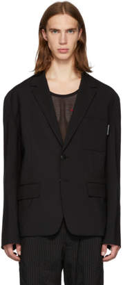 Alexander Wang Black Oversized Stretch Mohair Blazer