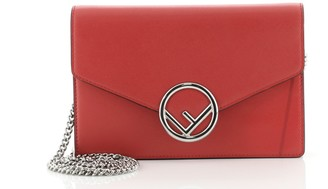 Fendi Kan I F Wallet On Chain Leather