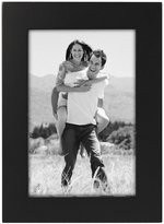 "Malden International Designs Linear Black Wood Picture Frame - Black - 4"" x 6"""
