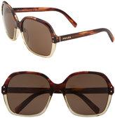 'Vintage  Oversized' Square Sunglasses