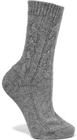 Johnstons of Elgin Cable-knit Cashmere Socks - One size
