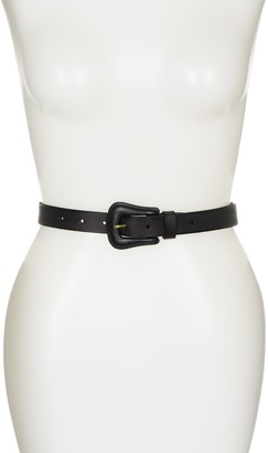 Frye Covered Buckle Solid Leather Belt