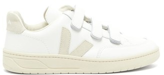 Veja V-lock Velcro-strap Leather Trainers - Womens - White