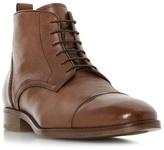 Bertie Tan 'mos' Toe Cap Detail Lace Up Boot