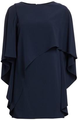 Halston Flowy Boatneck Dress