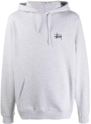 Stussy logo drawstring hoodie
