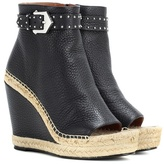 Givenchy Leather wedge espadrille ankle boots